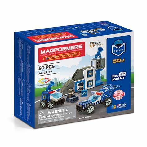 Magformers Amazing Police Set 50 Piece - STEAM Kids Brisbane