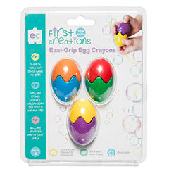 EC First Creations Easi-Grip Egg Crayons Set of 3 - STEAM Kids Brisbane