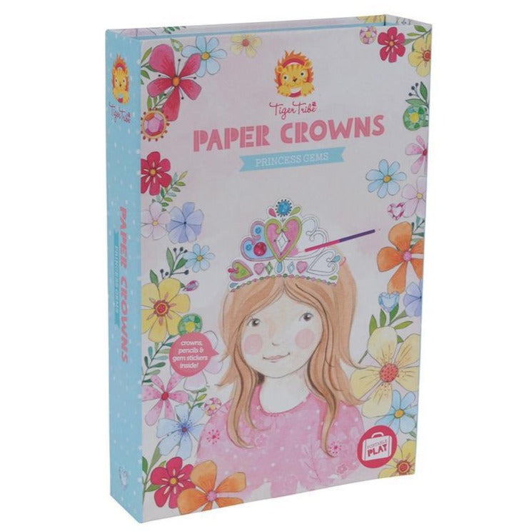 Tiger Tribe Paper Crowns Princess Gems - STEAM Kids Brisbane