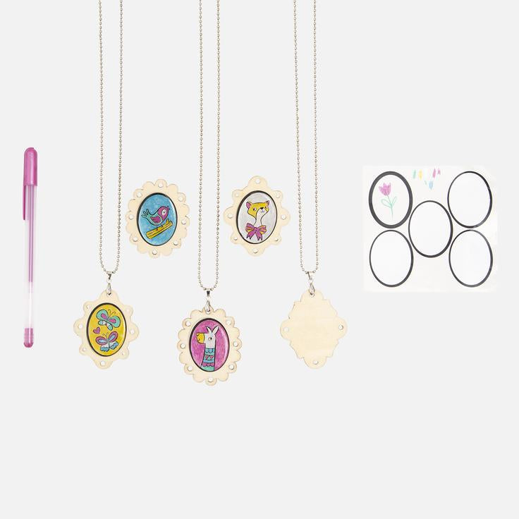 Tiger Tribe Resin and Wood Pendant and Brooch Kit - STEAM Kids Brisbane