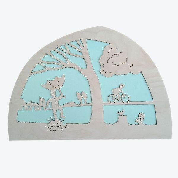 De Noest Silhouette Plate: Join the Wind - Mint - STEAM Kids Brisbane