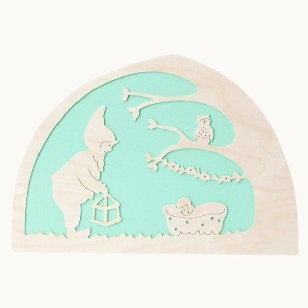 De Noest Silhouette Plate: Goodnight Mint - STEAM Kids Brisbane