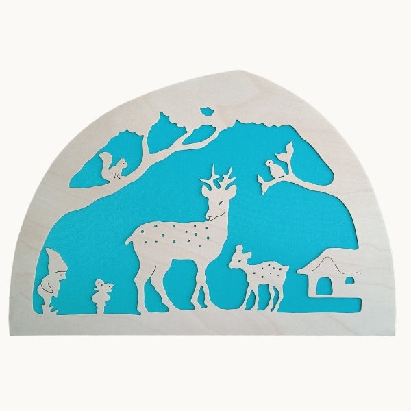 De Noest Silhouette Plate: Deer Blue - STEAM Kids Brisbane