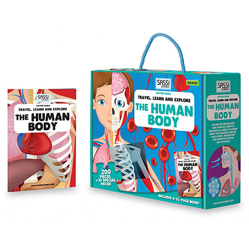Sassi Travel Learn and Explore the Human Body Book and Puzzle - STEAM Kids Brisbane
