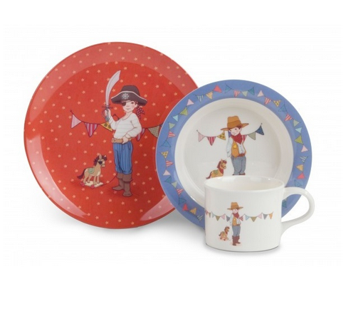 Belle & Boo (Ellis) 3 Piece Melamine Eating Set - STEAM Kids