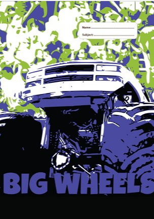 Spencil Scrapbook Book Cover - Big Wheels III - STEAM Kids Brisbane