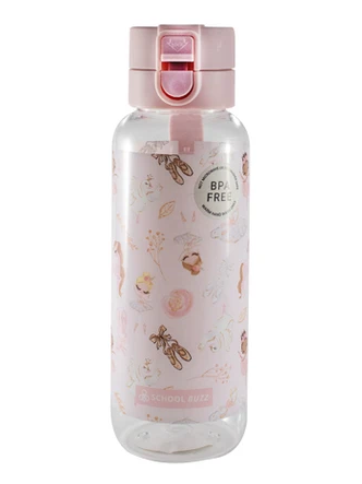 School Buzz Water Bottle - Pink Ballerina - STEAM Kids Brisbane