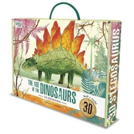 Sassi The Age of Dinosaurs Book and Stegasaurus 3D Model - STEAM Kids Brisbane