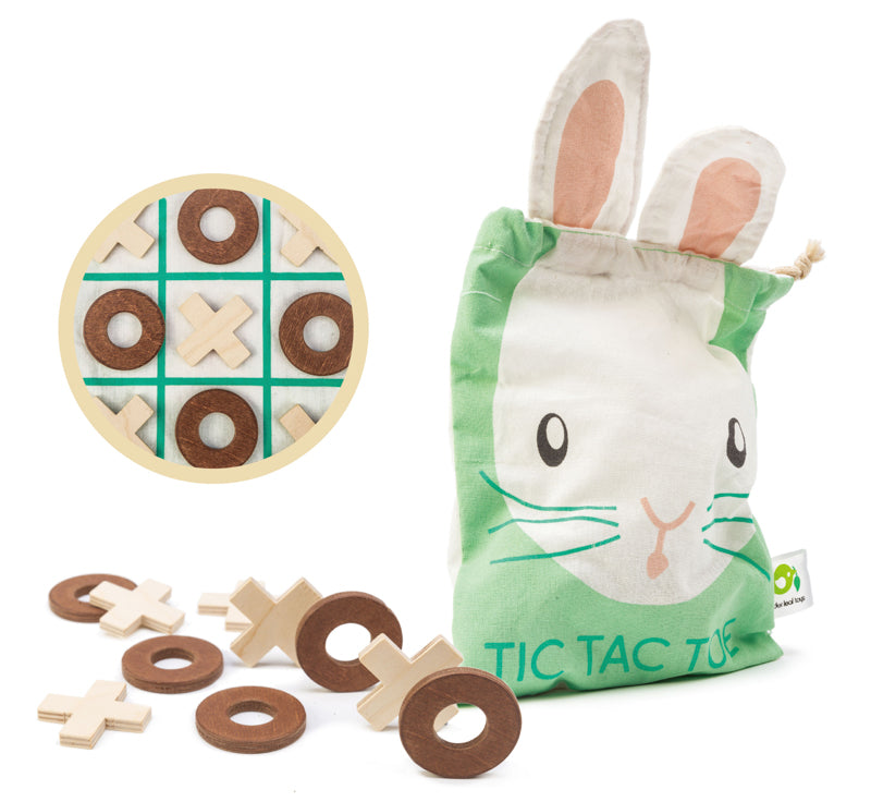 Tic Tac Toe -Wooden Game in Bag - Tender Leaf Toys - STEAM Kids Brisbane