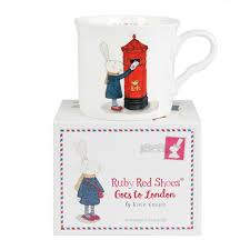 Ruby Red Shoes London Fine China Mug in Gift Box