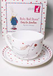 Ruby Red Shoes London Teacup and Saucer - Flying Fox Shop Brisbane