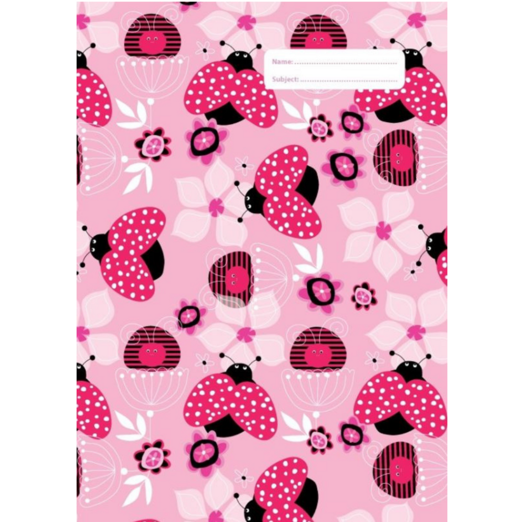 Spencil A4 Bookcover - Lady Bug I | Book Cover A4 Exercise Book Size - STEAM Kids Brisbane