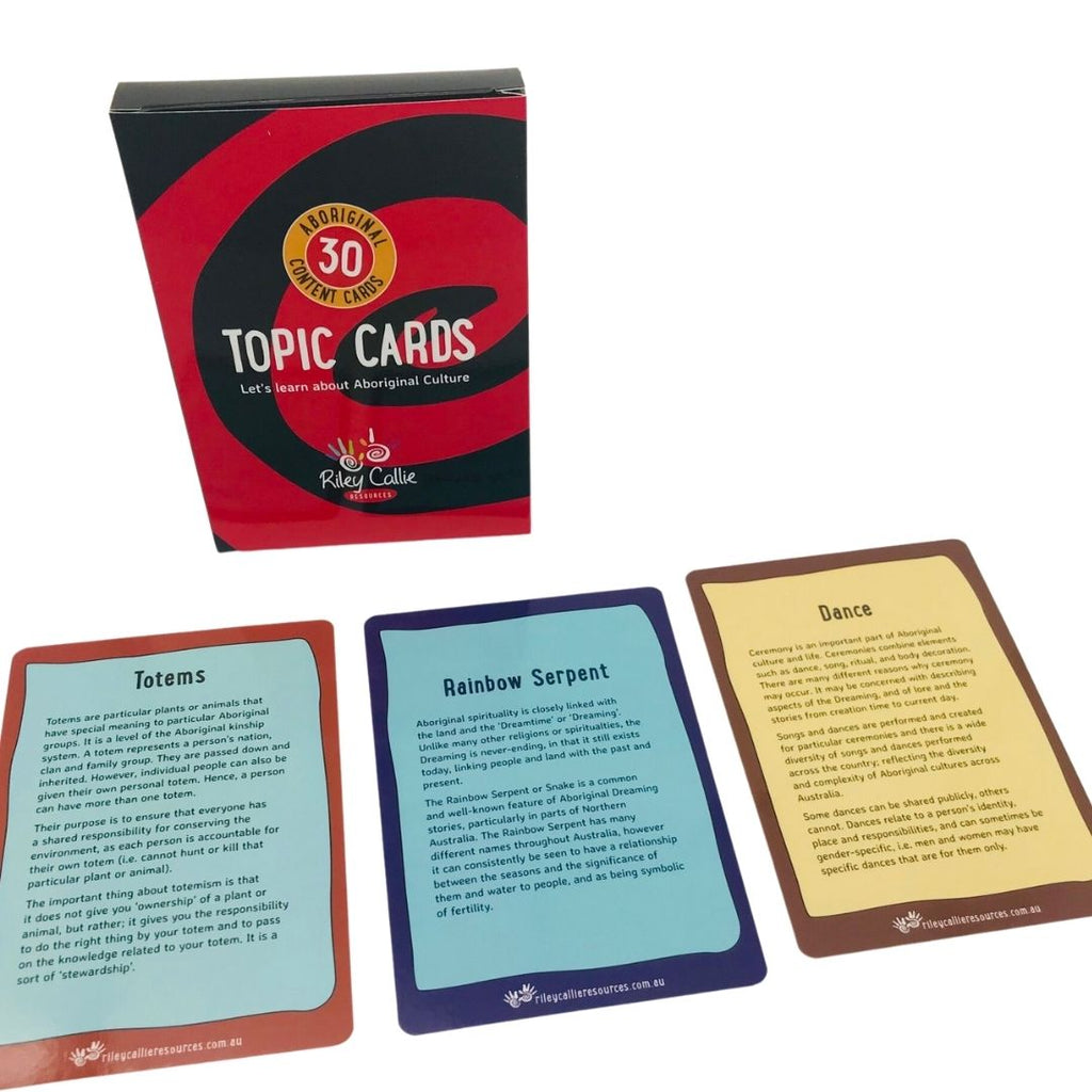 Aboriginal Topic Cards - STEAM Kids