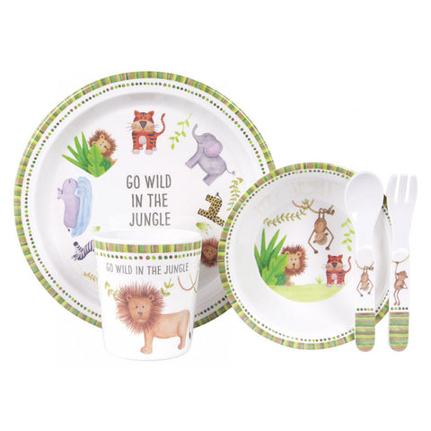 Ashdene Go Wild in the Jungle Melamine Dinner Set - STEAM Kids Brisbane