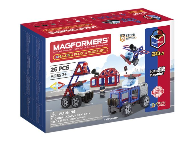 Magformers Amazing Police and Rescue 26 piece Set - STEAM Kids Brisbane