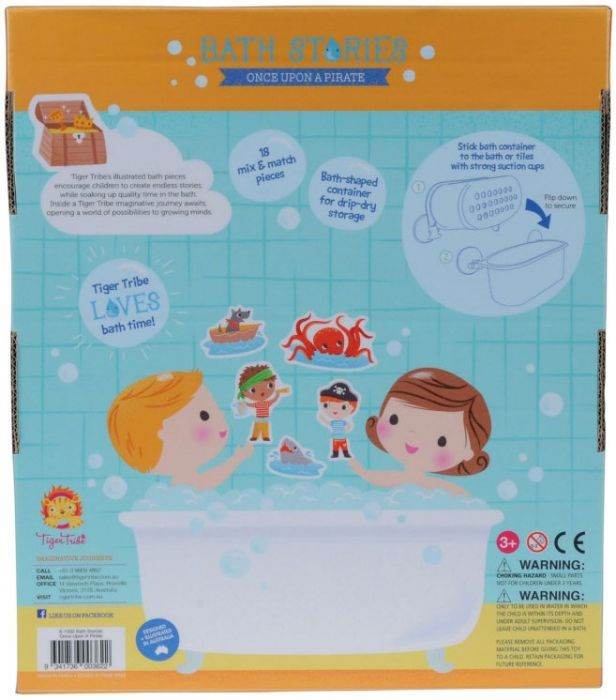 Tiger Tribe Bath Stories - Once upon a Pirate 18 pieces - STEAM Kids