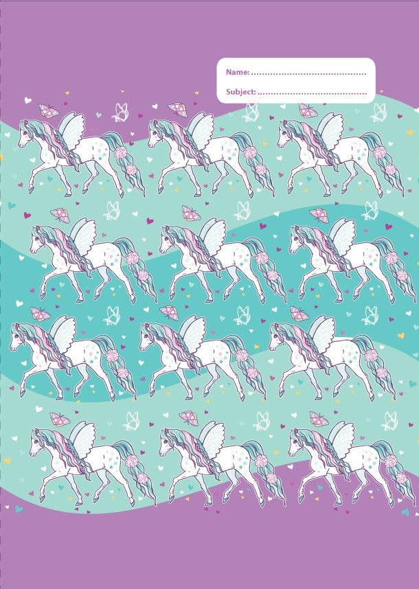 Spencil A4 Bookcover | Peony Pony | - STEAM Kids Brisbane