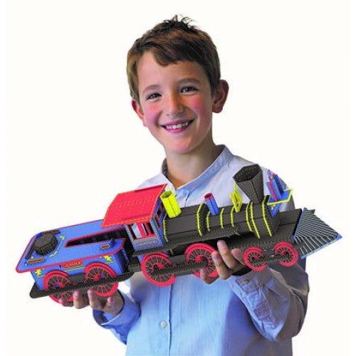 Sassi Travel, Learn and Explore 3D -Book and Build a 3D Locomotive - STEAM Kids Brisbane