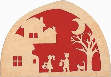 De Noest Silhouette Plate: Lanterns Red - STEAM Kids Brisbane