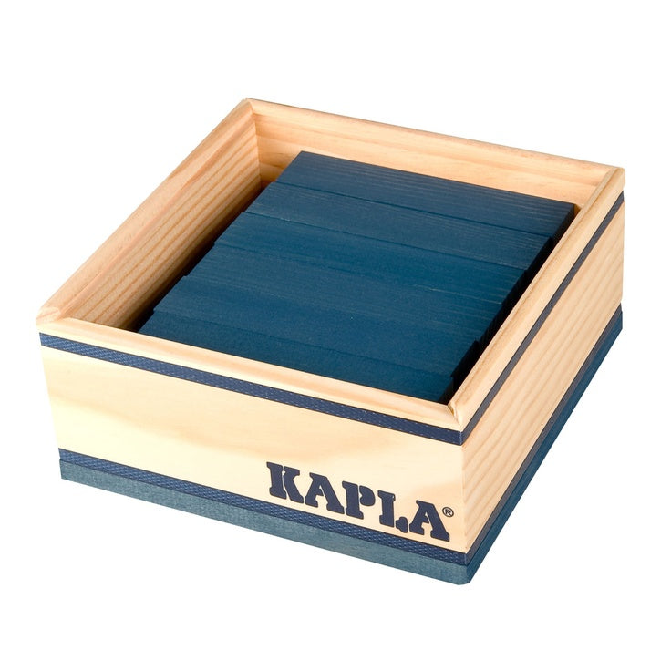 Kapla 40 Piece Colour Set: Navy Blue - STEAM Kids Brisbane