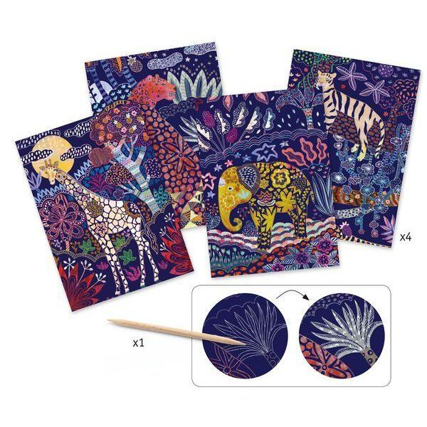 Djeco Scratch Cards Lush Nature - STEAM Kids Brisbane