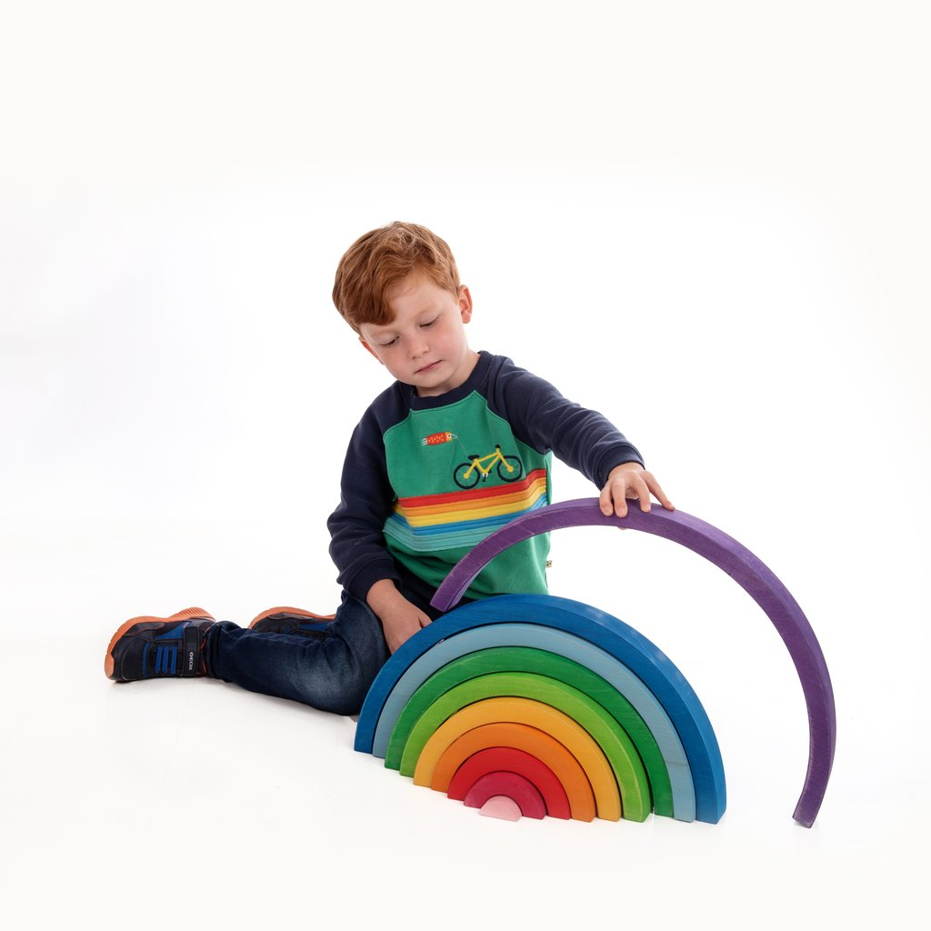 Bauspiel Giant 10 Piece Rainbow (50cm) - STEAM Kids Brisbane