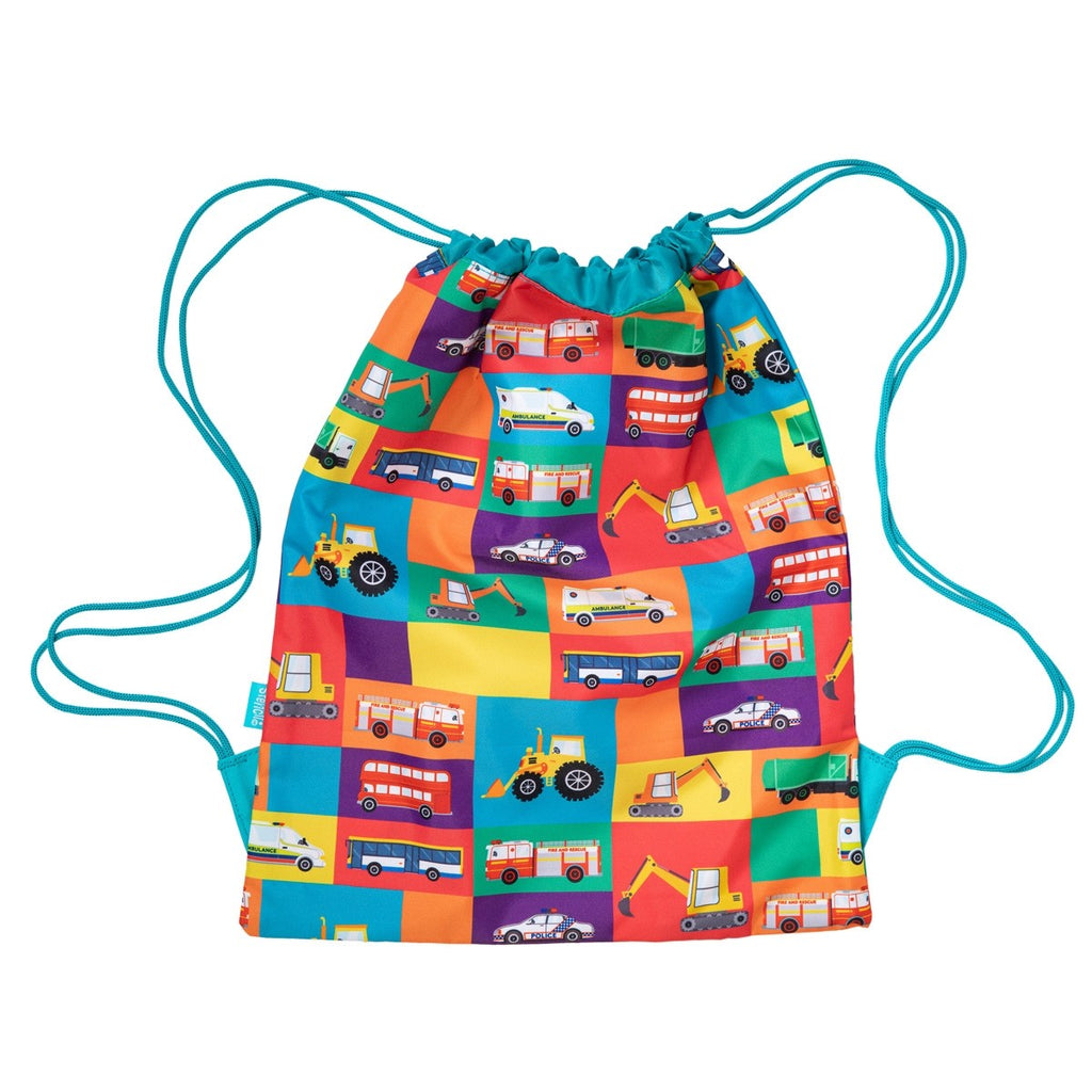 Spencil Drawstring Bag - Transport Town - STEAM Kids Brisbane