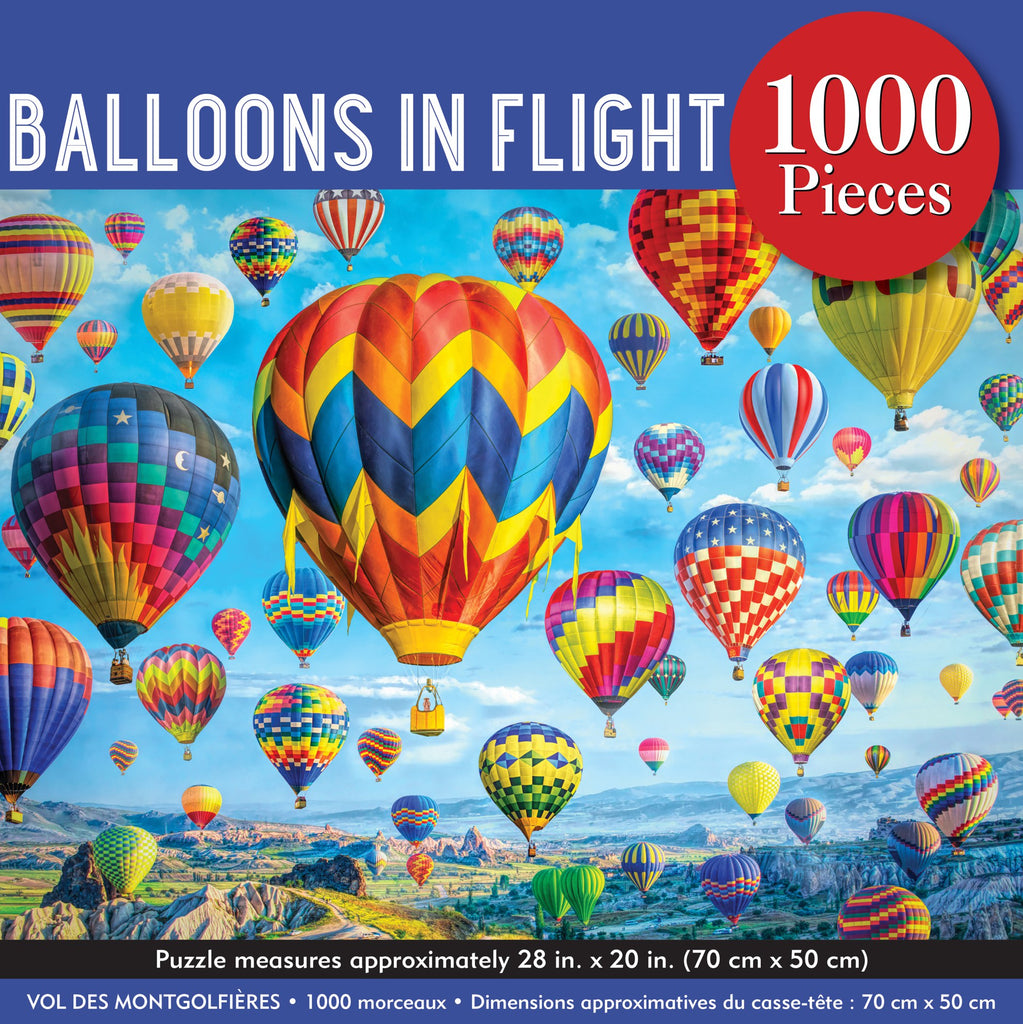 Balloons in Flight 1000 Piece Jigsaw Puzzle |Peter Pauper Press| - STEAM Kids Brisbane