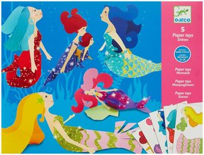 Djeco Paper Toys Mermaids - STEAM Kids Brisbane