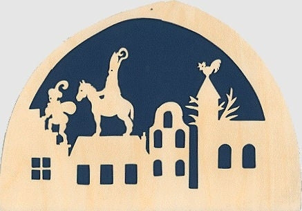 De Noest Silhouette Plate: St Nicholas Dark Blue - STEAM Kids Brisbane