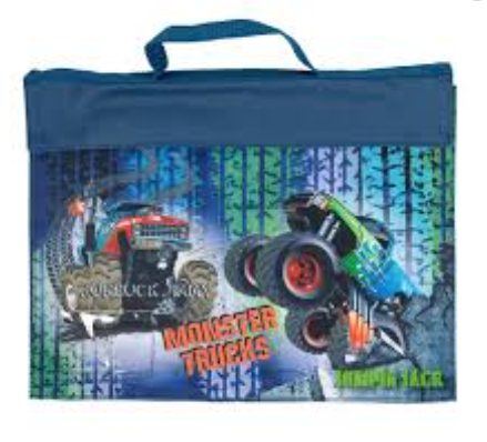 Spencil Library Bag -| Monster Trucks | - STEAM Kids Brisbane