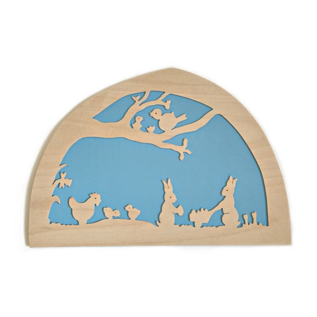 De Noest Silhouette Plate: Easter - Blue - STEAM Kids Brisbane