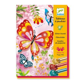 Djeco Butterfly Glitter Board Kit - STEAM Kids Brisbane
