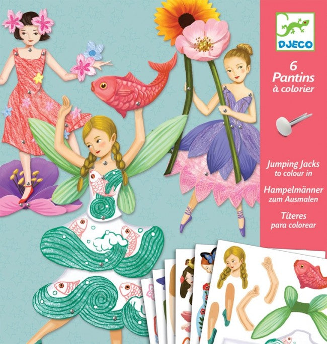 Djeco Paper Puppet Fairies - STEAM Kids Brisbane