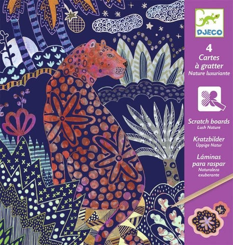 Djeco Scratch Cards Lush Nature - Flying Fox Shop Brisbane