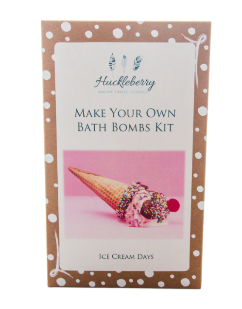 Huckleberry Make Your Own Bath Bomb Kit: Ice Cream Days - STEAM Kids Brisbane