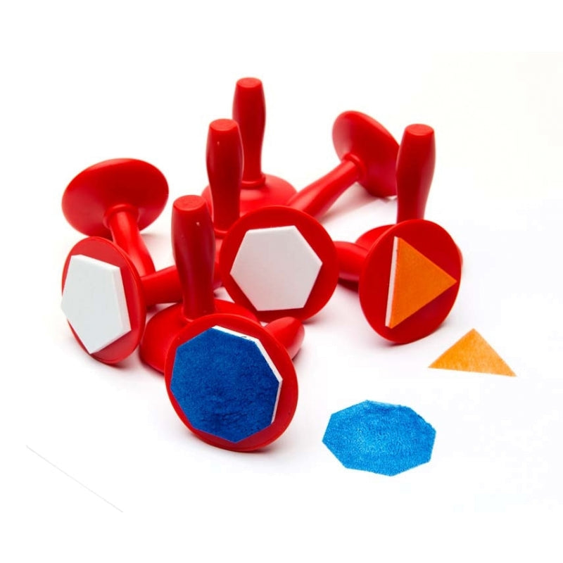 Paint And Dough Stampers Geometric Shapes (Set of 10) - STEAM Kids Brisbane