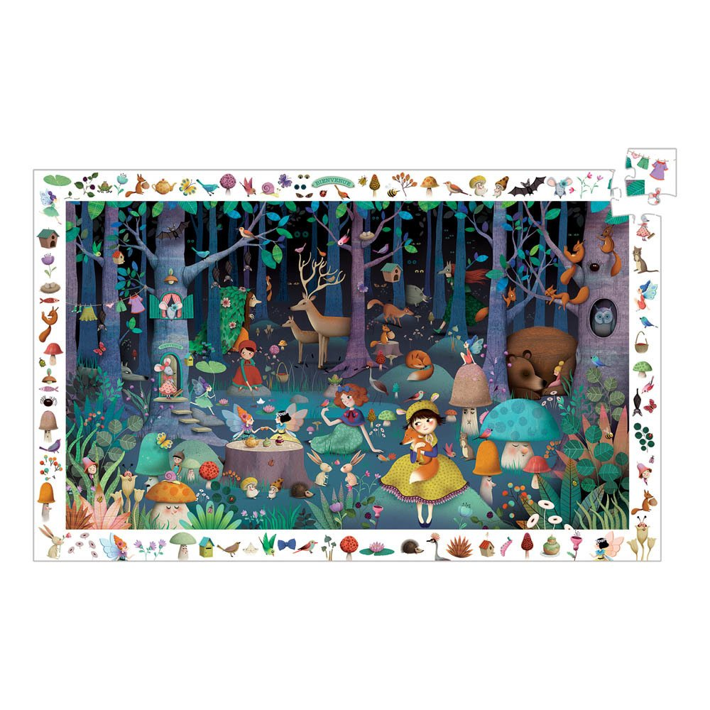 Djeco Enchanted Forest 100 Piece Puzzle - STEAM Kids Brisbane