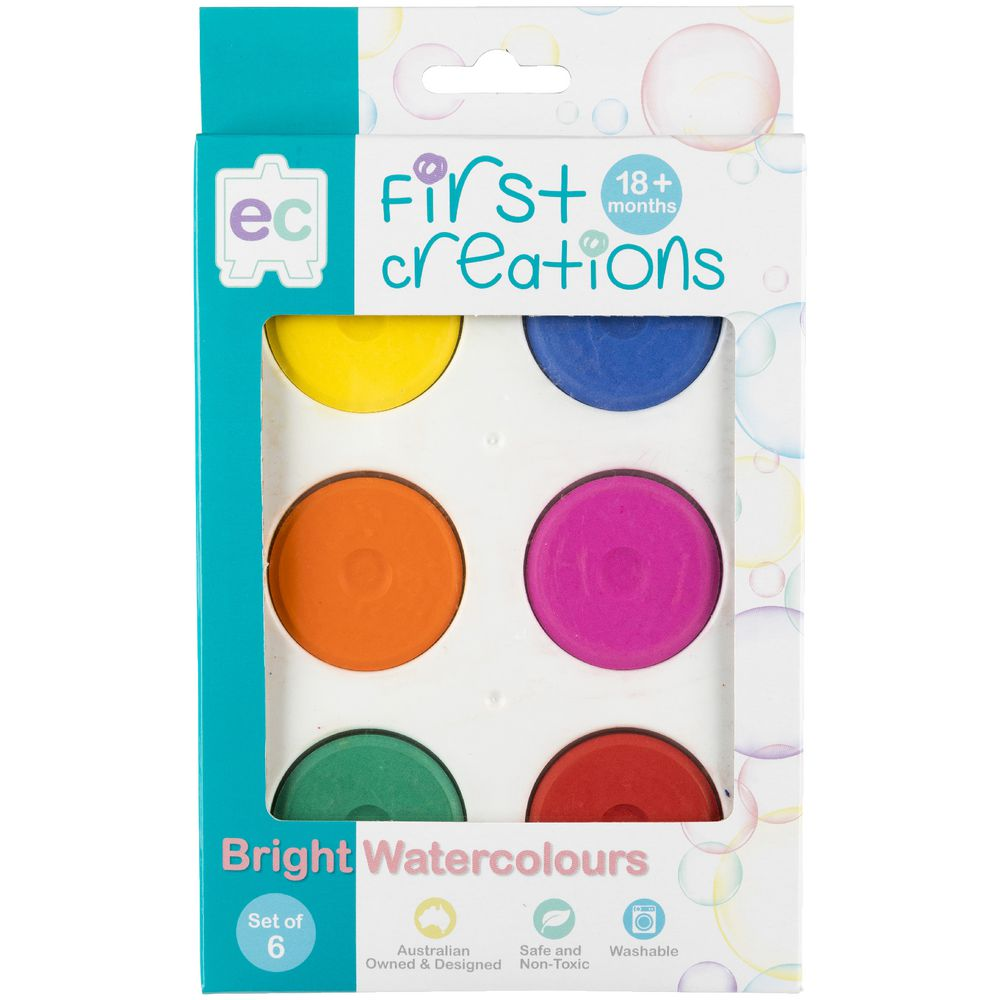 EC First Creations Bright Watercolour Set of 6 - STEAM Kids Brisbane