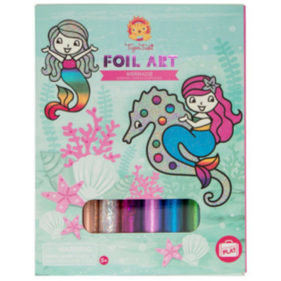 Tiger Tribe Foil Art: Mermaids - STEAM Kids Brisbane