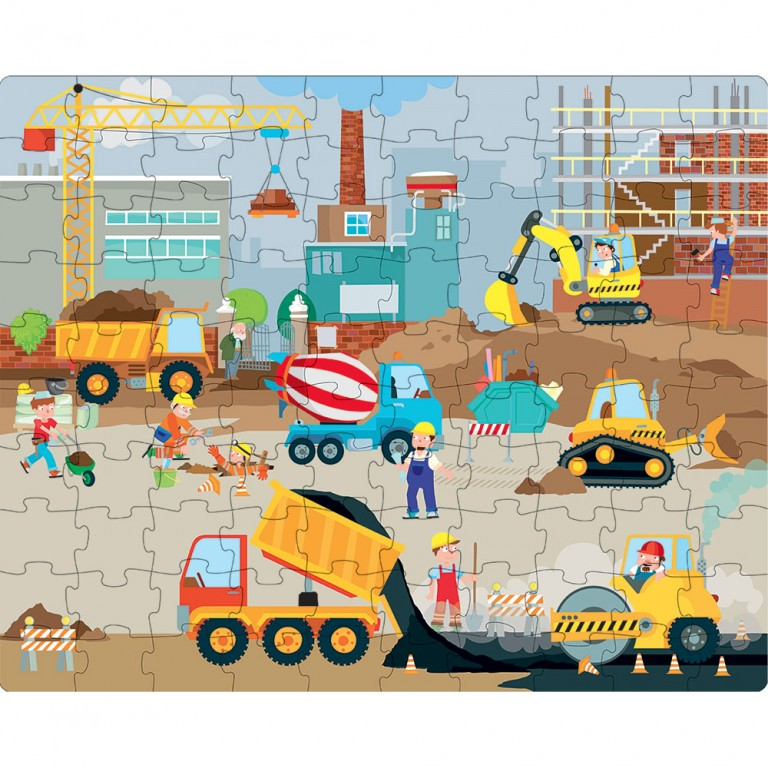 Sassi Construction Giant Puzzle, 30 Pieces - STEAM Kids Brisbane