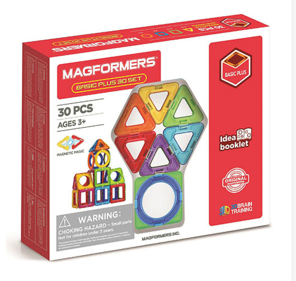 Magformers Basic Plus 30 Set - STEAM Kids Brisbane