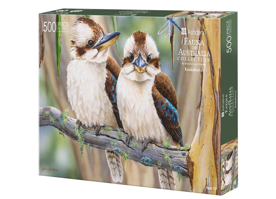 Fauna of Australia Kookaburras 500 Piece Puzzle | Ashdene Eco Puzzle - STEAM Kids Brisbane