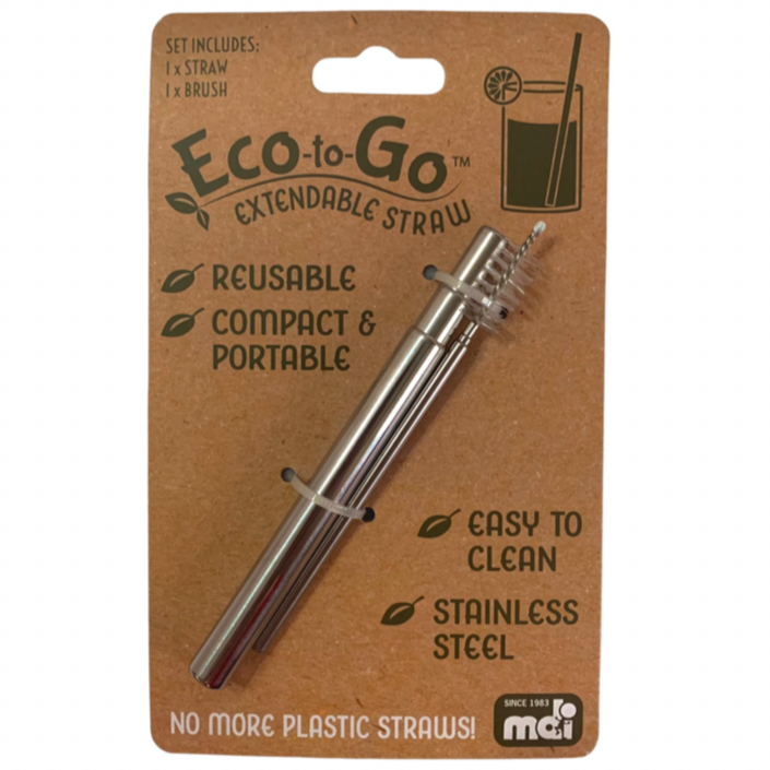 Eco-to-Go Steel Extendable Straw - Stainless Steel - STEAM Kids