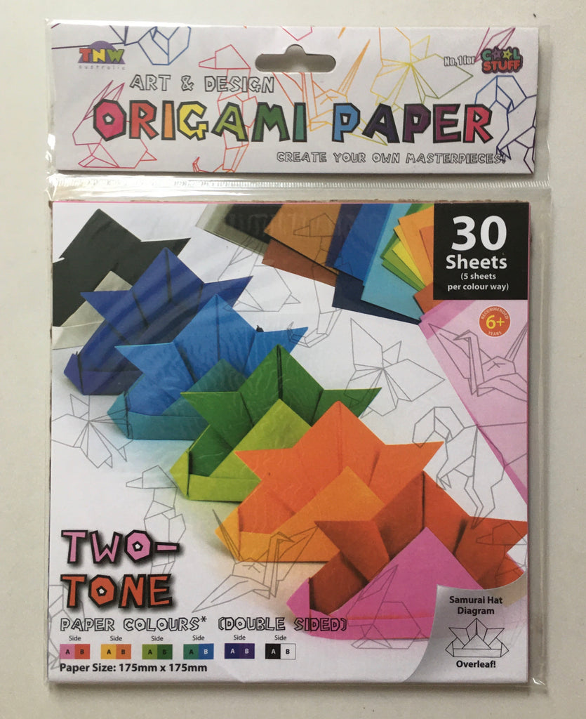 Origami Paper- Two Tone Double Sided 30 sheets Mixed Colours - STEAM Kids Brisbane