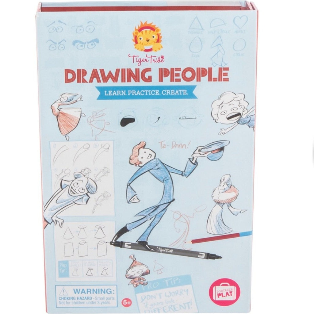 Tiger Tribe Drawing People Kit - STEAM Kids Brisbane