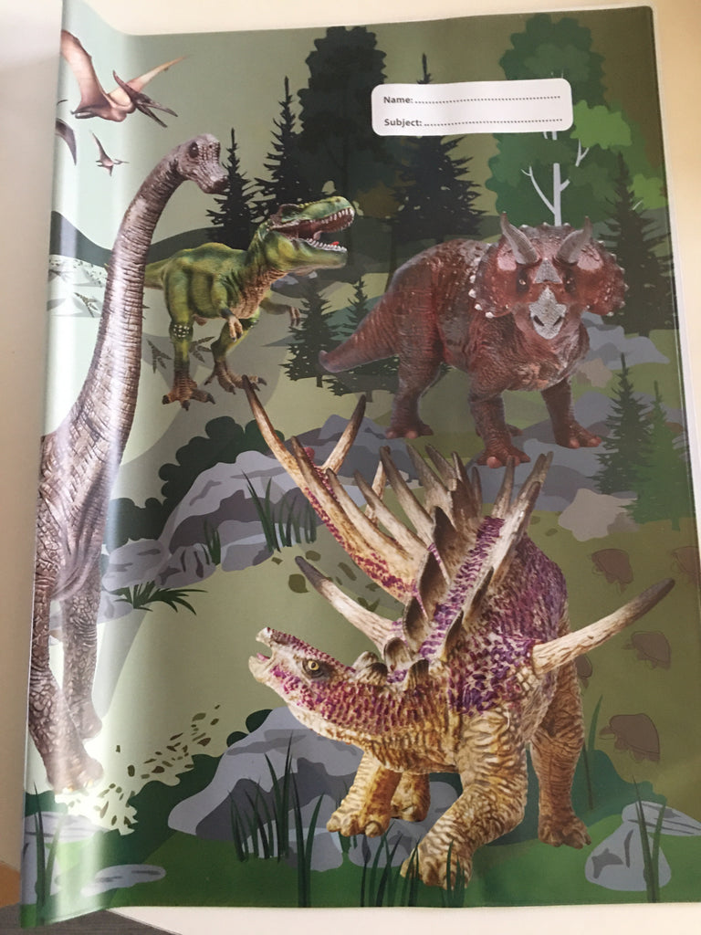 Spencil Scrapbook Book Cover -  Dinosaur - STEAM Kids Brisbane