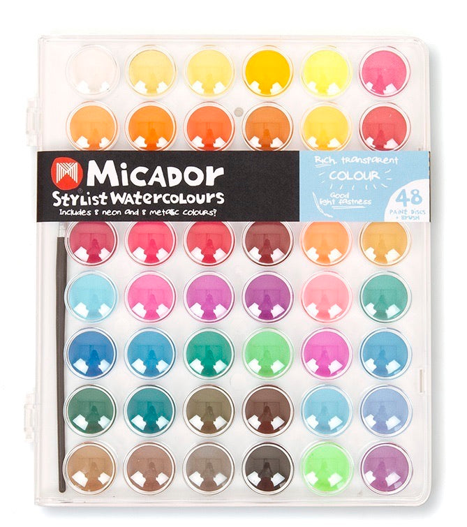 Micador Stylist Watercolour Palette 48 - STEAM Kids Brisbane