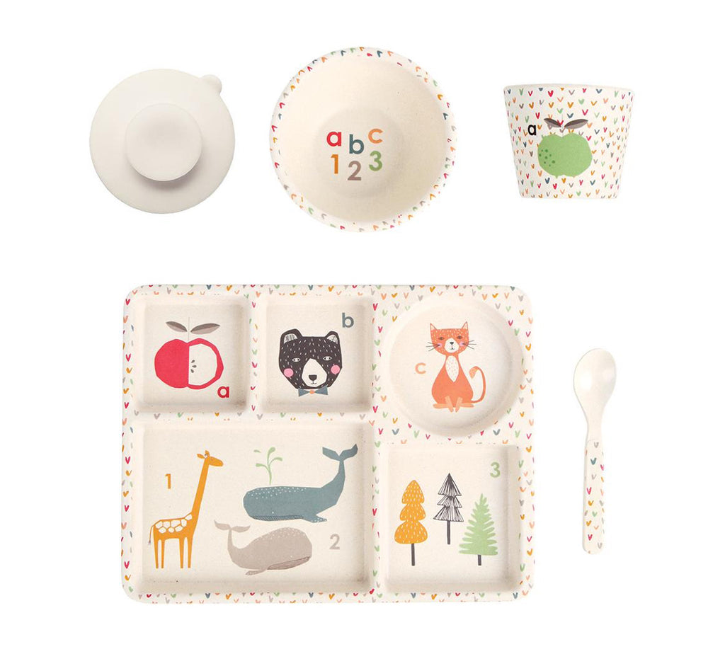 Love Mae Bamboo Divided Plate Set ABC - STEAM Kids Brisbane