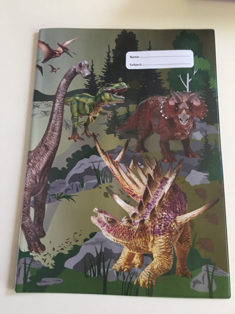 Spencil A4 Book Cover - Dinosaur - STEAM Kids Brisbane